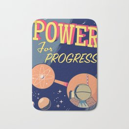 Power For Progress 1955 atomic power print. Bath Mat