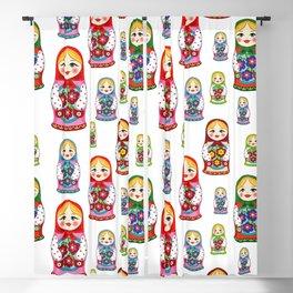 Russian nesting dolls pattern Blackout Curtain