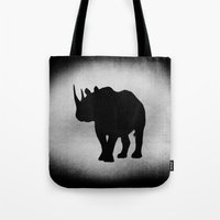 rhino Tote Bags featuring Rhino by LoRo  Art & Pictures