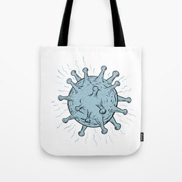 Virus Drawing Tote Bag