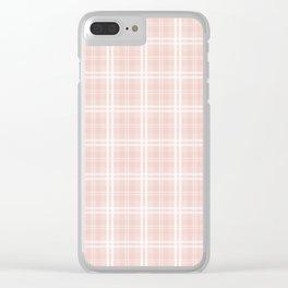 Spring 2017 Designer Color Pale Pink Dogwood Tartan Plaid Check Clear iPhone Case