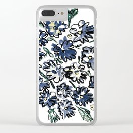Flower Bunches Clear iPhone Case