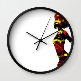 Color Girl Power Wall Clock