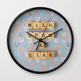 Wish Upon A Star Wall Clock
