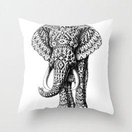 Tribal Elephant Throw Pillow