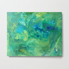 Jungle Fever Watercolor Abstract Painting Metal Print