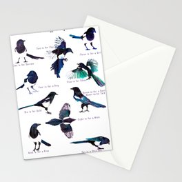 The Magpie Rhyme Stationery Cards