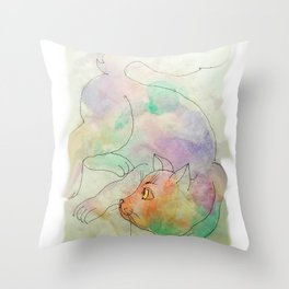 cat3 Throw Pillow
