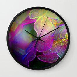 Hydrangeas in the Night Wall Clock