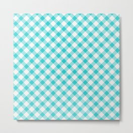 Summer Plaid 14 Metal Print