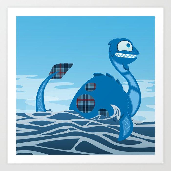Silly Bestiary: Nessie! Art Print