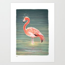 Flamingod Art Print