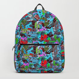 80's Abstract Earring Doodle 2 Backpack