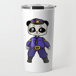 Police security panda bear cartoon children gift Travel Mug
