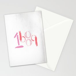 1689 (pink retro) Stationery Cards