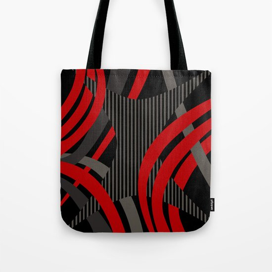 Red Wired Tote Bag