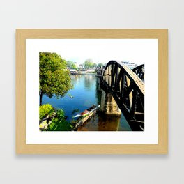 Bridge over troubled water Framed Art Print