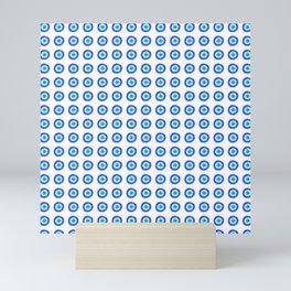 Pixel Evil Eye Pattern Mini Art Print