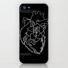 Flowering Left Atrium in White iPhone Case
