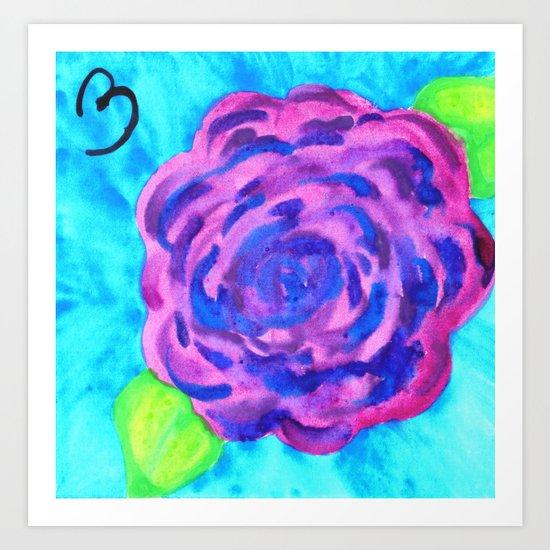 Vibrant Purple Carnation Art Print