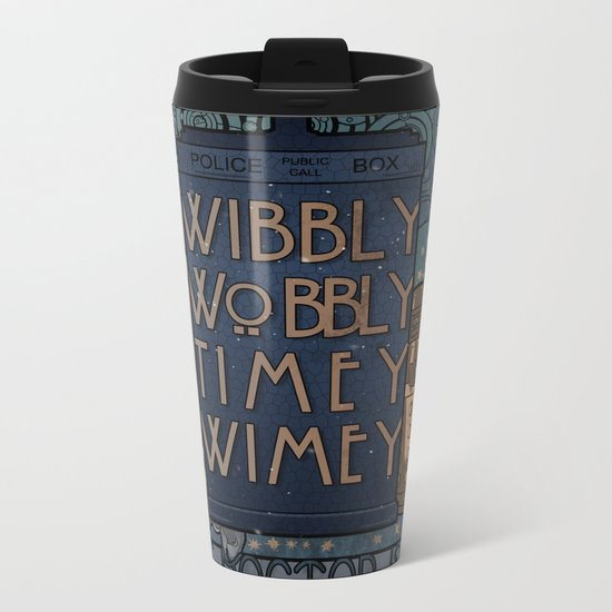art nouveau TARDIS Metal Travel Mug