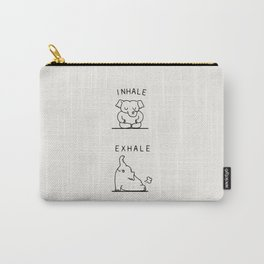 Inhale Exhale Elehant Carry-All Pouch