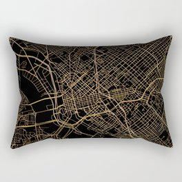 Black and gold Dallas map Rectangular Pillow