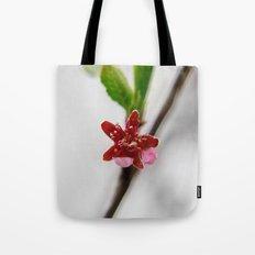 Red peach blossom Tote Bag