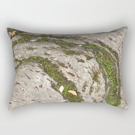 Mossy Stone Curves Rectangular Pillow