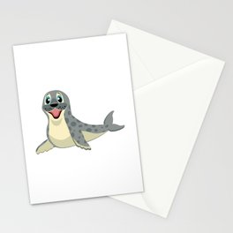 Smiling Baby Seal Stationery Cards