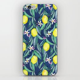 When Life Gives You Lemons - blue iPhone Skin
