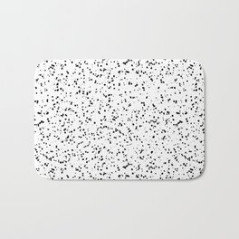 Speckles I: Double Black on White Bath Mat