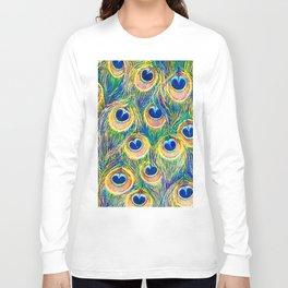 Peacock Freathers Long Sleeve T-shirt