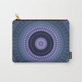 Mandala in blue and pink tones Carry-All Pouch