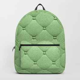 Pastel green luxury upholstery pattern Backpack