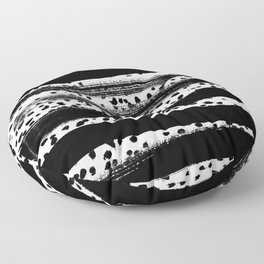 Iver - black and white minimal painting abstract art brooklyn trendy urban street city art work  Floor Pillow