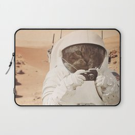 Astronaut Cat on Mars Laptop Sleeve
