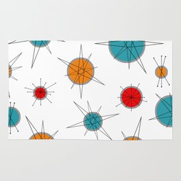 Atomic Age Colorful Planets Rug