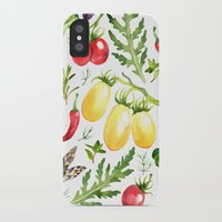 vegetables iPhone & iPod Cases featuring Watercolor vegetables by Achtung