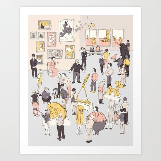 At the Museum Art Print