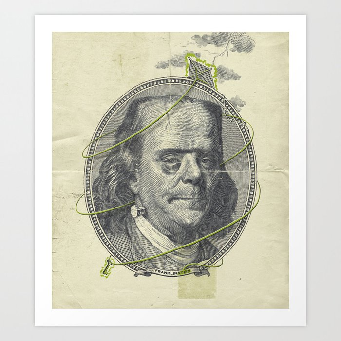 Franklinstein Art Print