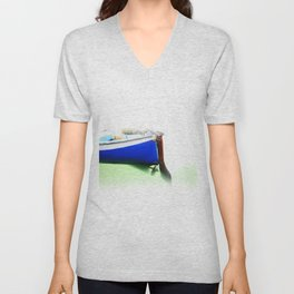 The fishing boat and the water Unisex V-Neck