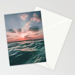 Deep Green Float Stationery Cards