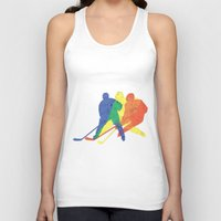 hockey Tank Tops featuring Hockey by preview