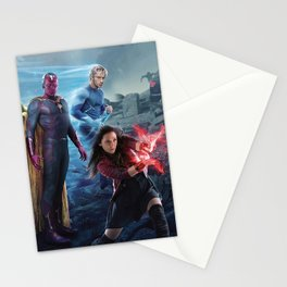 Scarlet Witch, Quicksilver, Vision, Ulton Stationery Cards