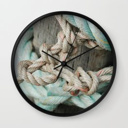 TIED TO THE MOORING #1 Wall Clock