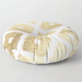 Modern chic faux gold leaf ikat pattern Floor Pillow