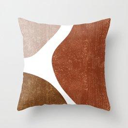 Terracotta Art Print 1 - Terracotta Abstract - Modern, Minimal, Contemporary Abstract - Brown, Beige Throw Pillow