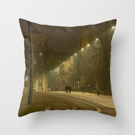 Tramlines. Throw Pillow