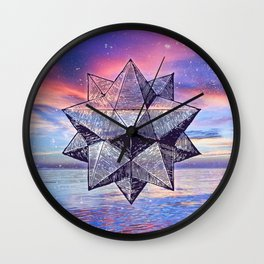 Sacred Geometry Universe 8 Wall Clock